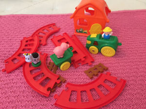 Farmer Train Track Toy Sounds and Moves