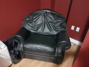 Selling Leather Love Seat and Chair