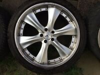 ALLOYS 22 INCH BMW RANGE ROVER GOOD TYR