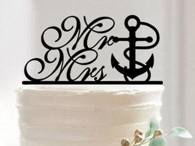 Anchor Cake Topper (Nautical Anchor Love - Wedding Cake)