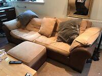 Large Sofa, Armchair, Foot stool set