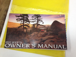 WANTED:JEEP WRANGLER & JEEP TJ OWNERS MANUAL BOOKS 1965-2017