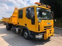 2011 11 Iveco Eurocargo 80E180 crew cab dropside tipper