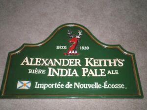 Alexander Keith's Wooden Beer Sign.