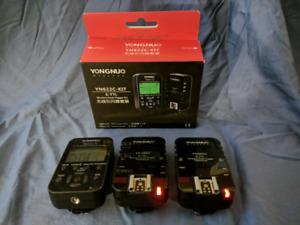 Yongnuo YN622C-TX with 2X YN622C Flash Triggers Canon
