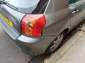 Toyota Corolla headlight