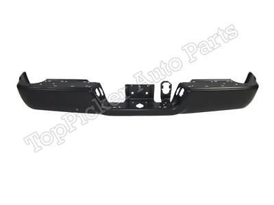 FOR DODGE RAM 2500 3500 2013-2017 REAR BUMPER FACE BAR BLACK W/O SENSOR HOLES