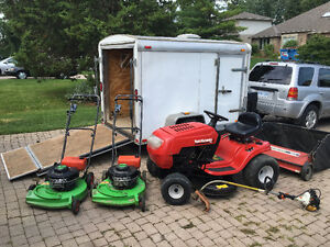 Lawn Tractor and lawn boy mowers