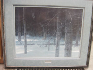 """Midnight Black - Wolf"" by Robert Bateman"