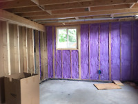 Hanging drywall and taping/popcorn ceiling removal, wallpaper