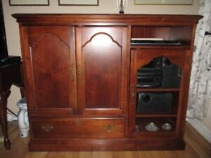 PRICE SLASHED! Cherry wood cabinet from Bustin's