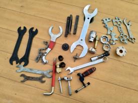 Job lot of bike tools