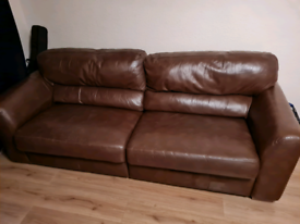 Real leather sofas 2 and 3 seater