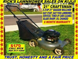 5.5 HP 21'' CRAFTSMAN MUCH/BAG MOWER