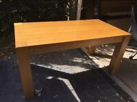 Oak Dining room or kitchen table for sale