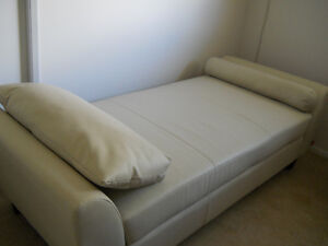 Faux Leather Daybed with matching  bolster pillows