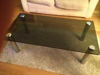 Glass topped coffee table £25