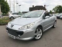Peugeot 307 2.0 16V S COUPE CABRIOLET 138BHP (silver) 2005