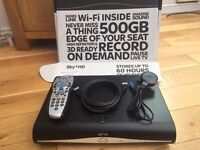 Sky+ HD boxed 250gb recording storage with Sky remote and cables