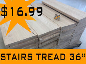 Stairs parts, red oak maple Treads | Railing | Ajax
