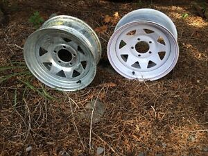 "Galvanized 14"" x 6"" Trailer Tire RIM only"