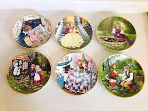 Set of 6 Vintage Kaiser W.German Classic Fairy Tales Plates