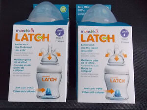 TWO MUNCHKIN LATCH BOTTLES