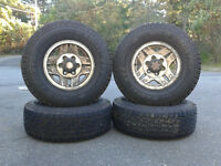 Four 6 ply Wild Country all terrain certified winter tires