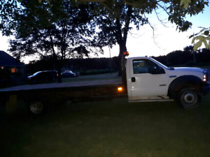 2006 Ford F550 flatbed. 18 foot Diesel.