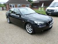 2005 BMW 530 3.0i SE AUTOMATIC, BLACK, SALOON, HEATED MEMORY LEATHER SEATS,