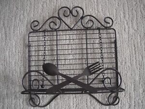 Cookbook Holder With Weighted Chains