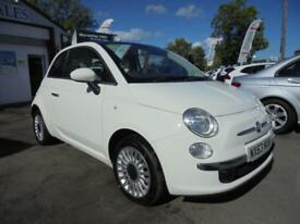 FIAT 500 1.2 LOUNGE 3dr White Manual Petrol, 2013