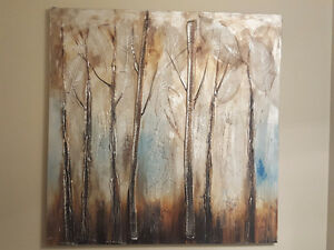 Beautiful large abstract tree painting