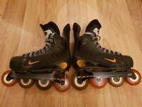Nike Quest Shadow Roller Hockey Skates SIZE 6