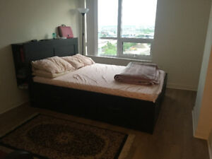 Master bed King size (ikea) with mattress