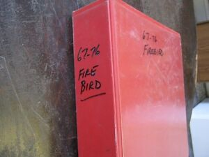 GM FIREBIRD 1967-76 PARTS MANUAL