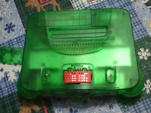 Nintendo Funtastic Green N64 console with expansion pack