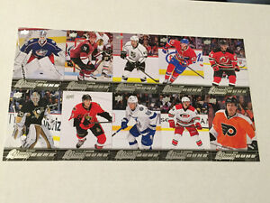 2015-16 Young Guns Update Rookie hockey card set (10 cards)