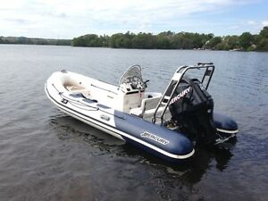 Mercury V-520 rigid inflatable rib 17' 90 Mercury ace condition