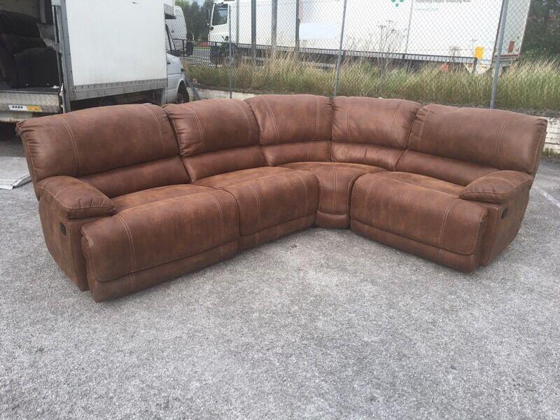 Lovely Harvey's sandbridge 5-6 seater large corner sofa recliner left  NZ26