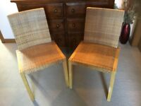 6 IKEA HIGH BACKED WOVEN DINING / KITCHEN CHAIRS