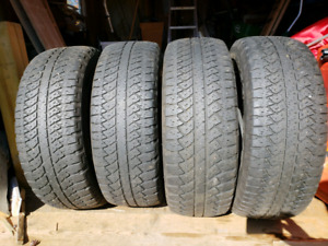 4 used tires, P265/65R18 , Bridgestone Dueler A/T