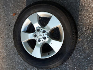 Mercedes Benz Pirelli Ice & Snow tires, 235/60 R17 with rims.