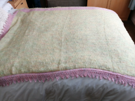 Hand knitted baby shawl