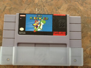 Jeu Super Mario World de Super Nintendo