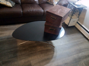 Solid wood side table / coffee table (ebony) Low unique design