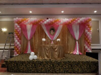 Balloon decoration and backdrops at affordable prices