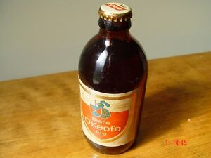bouteille Dow o'keefe biere unopened beer bottle antique molson