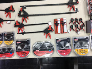 NEW CRAFTSMAN TOOLS Saw Blades & Bar Clamps