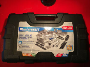 MASTERCRAFT 184 PIECE SOCKET AND TOOL SET- BRAND NEW